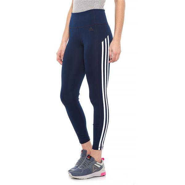 premium selection 45c83 0953d adidas KI 3 Stripe Ankle Tights (For Women) in Black White - Closeouts