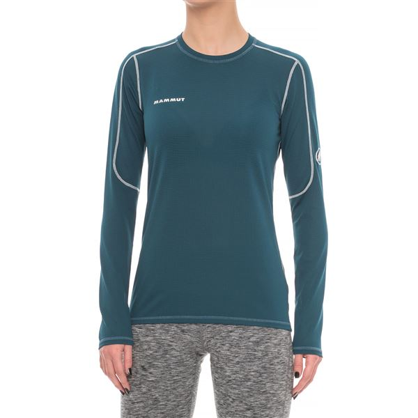 Mammut Go Dry Shirt - Long Sleeve (For Women) in Light Pacific - Closeouts