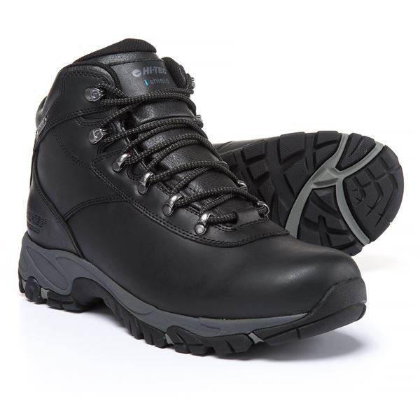 Hi-Tec Altitude V Hiking Boots - Waterproof (For Men) in Black/Grey - Closeouts