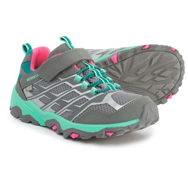 Merrell Moab FST Low A/C Hiking Shoes - Waterproof (For Girls) in Grey - Closeouts