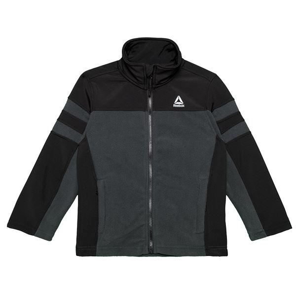 Reebok Polar Fleece Jacket (For Little Boys) in Black - Closeouts