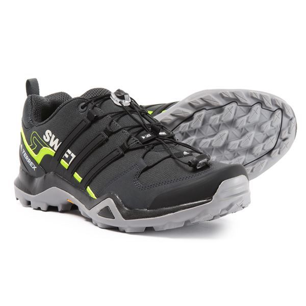 adidas Terrex Swift R2 Hiking Shoes (For Men) in Grey Three/Black/Grey Five - Closeouts