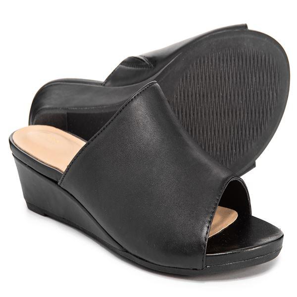 0723be28eddd Clarks Parram Waltz Leather Slide Sandals (For Women) - Save 50%