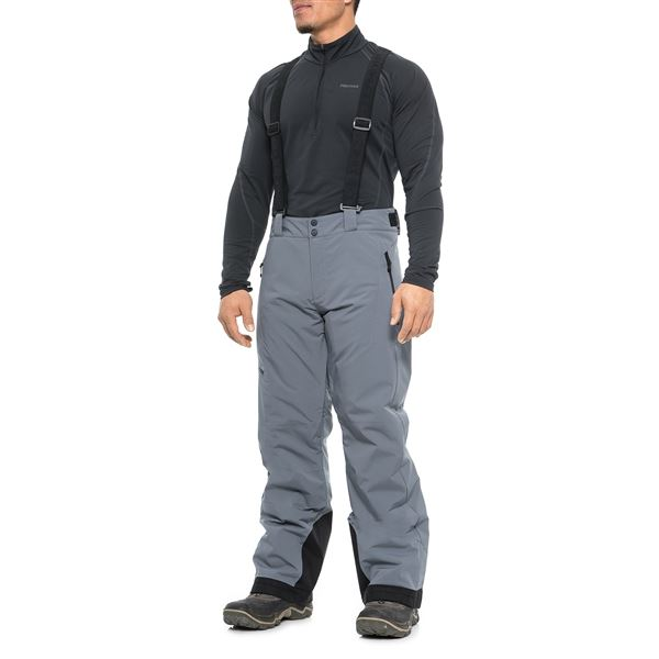 Obermeyer Force Suspender Ski Pants - Waterproof, Insulated (For Men) in Ebony - Closeouts