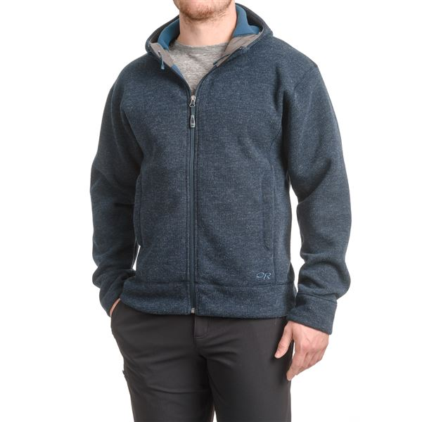 Outdoor Research Exit Sweatshirt - Full Zip (For Men) in Night - Closeouts