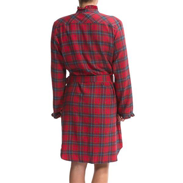 Rosch flannel nightshirt robe for women 8154m save 80 for Womens flannel night shirts