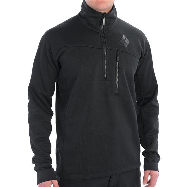 Black Diamond Equipment Solution Polartec® Fleece Jacket - Zip Neck (For Men) in Deep Torch - Closeouts