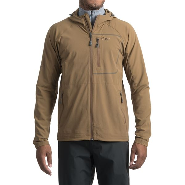 Outdoor Research Ferrosi Hooded Jacket (For Men) in Coyote - Closeouts