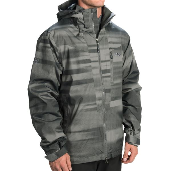 Outdoor Research Igneo Jacket - Waterproof, Insulated (For Men) in Pewter/Lemongrass - Closeouts