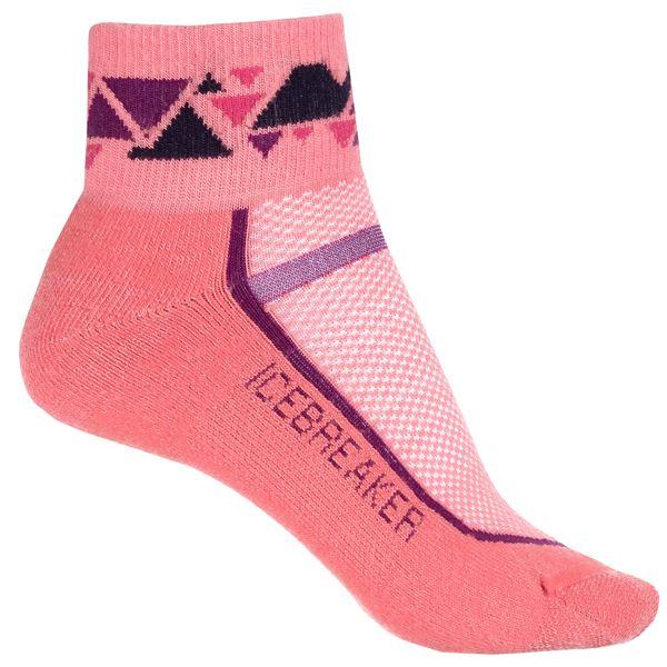 Icebreaker Multisport Light Mini Socks - Merino Wool, Ankle (For Women) in Tulip/Vivid - 2nds