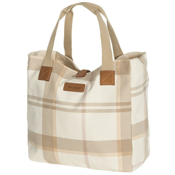 Barbour Summer Dress Cotton Tartan Tote Bag (For Women) in Grey - Closeouts