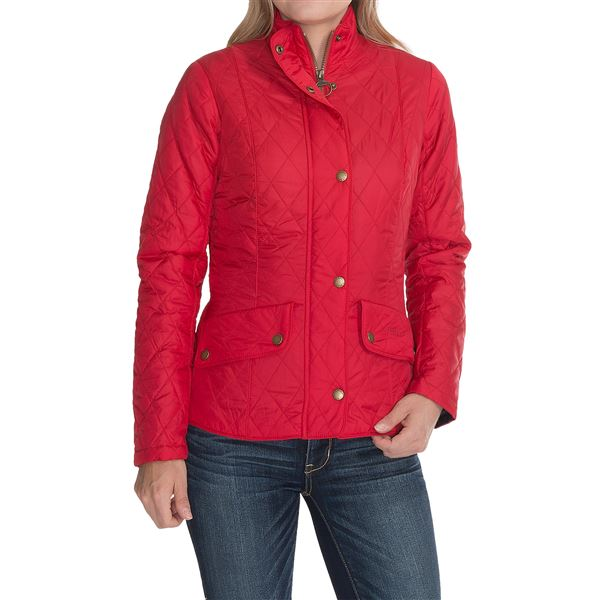 Barbour Flyweight Cavalry Diamond Quilted Jacket (For Women) in Sterling - Closeouts