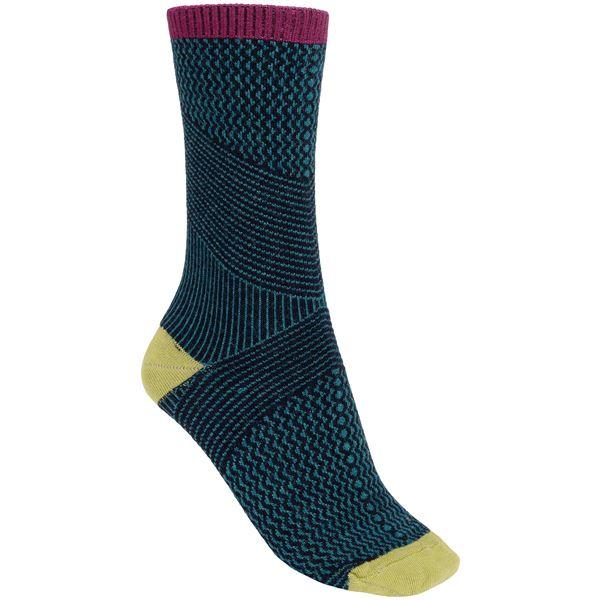 Goodhew It's a Wrap Socks - Merino Wool Blend, Crew (For Women) in Espresso - Closeouts