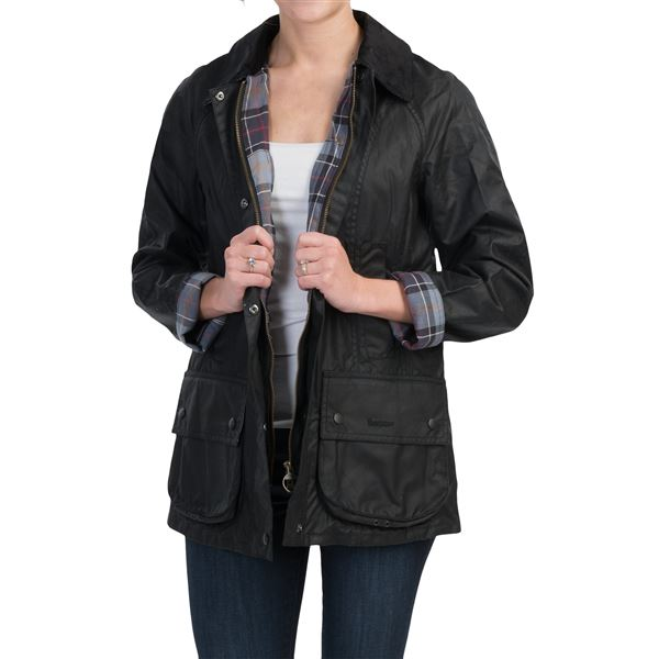 Barbour Beadnell Thornproof Jacket - Satin Waxed Cotton (For Women) in  - Closeouts