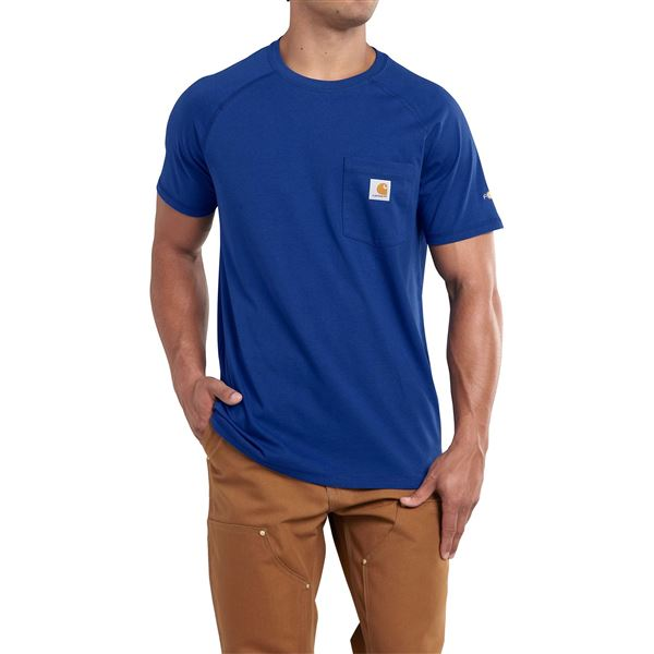 Carhartt Force T-Shirt - Short Sleeve (For Big and Tall Men) in Bay Harbor - 2nds