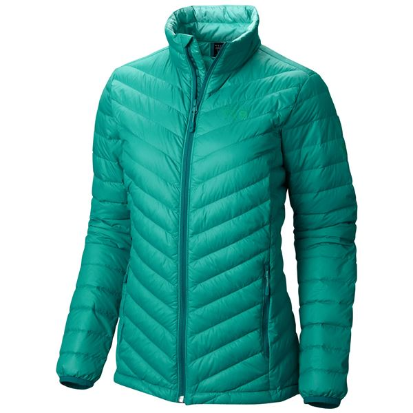 Mountain Hardwear Micro Ratio Down Jacket - 650 Fill Power (For Women) in Glacier Green - Closeouts