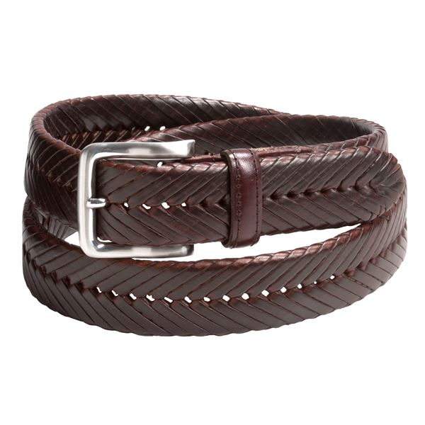 woolrich berwick braided leather belt for