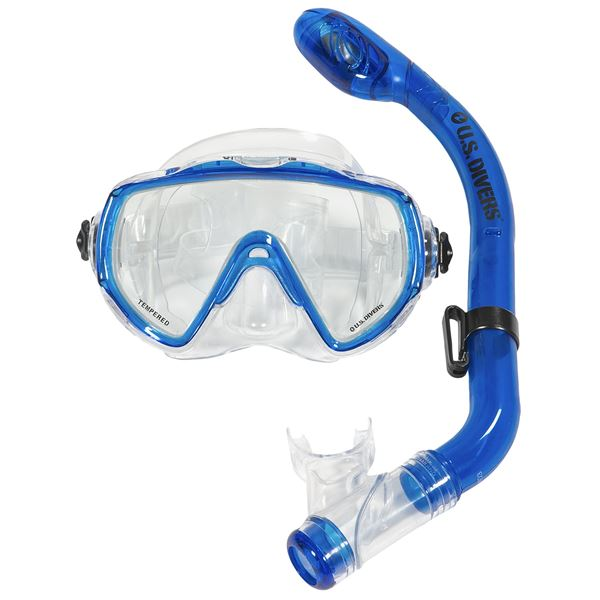 U.S. Divers Dundee Mask and Keiki Snorkel Set (For Youth) in  - Closeouts