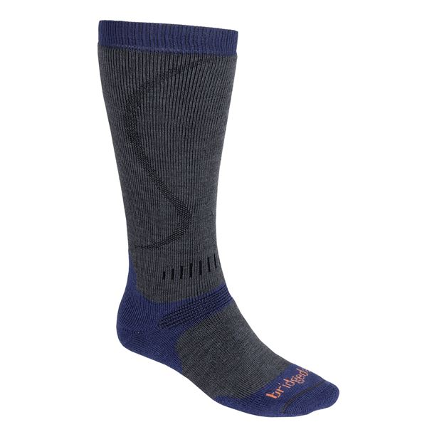Bridgedale All Mountain Winter Sport Socks - Merino Wool, Heavyweight, Over-the-Calf (For Men) in Gunmetal/Stone - 2nds