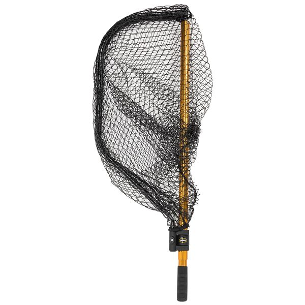 Frabill power stow collapsible fishing landing net size for Fish landing nets