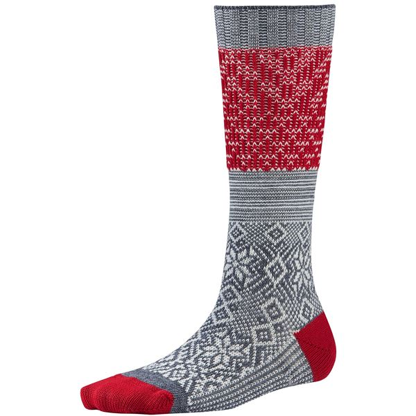 SmartWool Snowflake Flurry Socks - Merino Wool, Over the Calf (For Women) in Natural Heather - 2nds