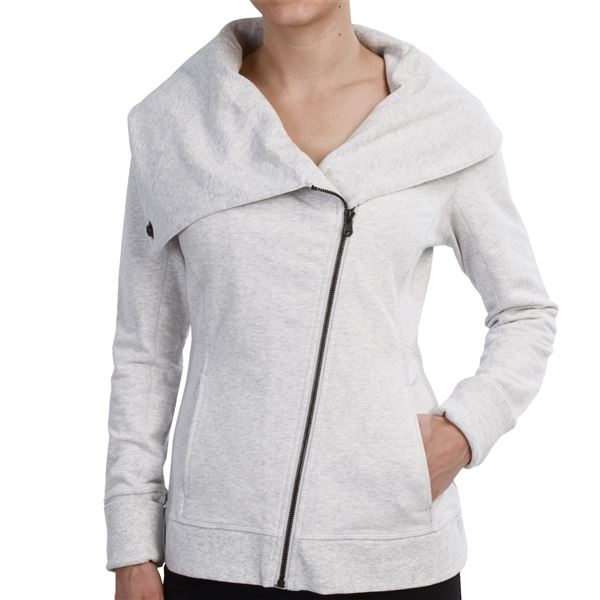lucy Hatha Flow Jacket (For Women) in Sleet Grey Heather - Closeouts