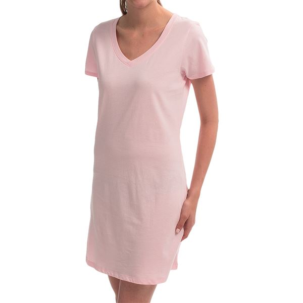 Jockey Jersey-Knit Nightshirt - V-Neck, Short Sleeve (For Women) in  - Closeouts