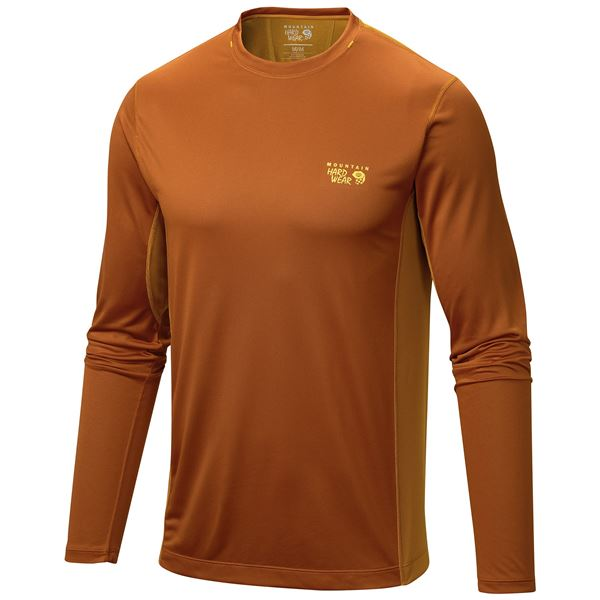 Mountain Hardwear Wicked Lite T-Shirt - UPF 15, Long Sleeve (For Men) in Inca Gold - Closeouts