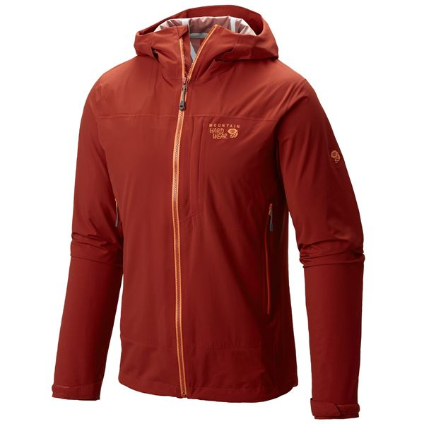 Mountain Hardwear Stretch Ozonic Dry.Q® Active Jacket - Waterproof (For Men) in Fiery Red - Closeouts
