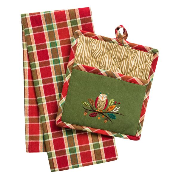 DII Pot Holder and Dish Towel Gift Set in Garden - Closeouts