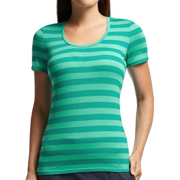 Icebreaker Tech Lite Stripe T-Shirt - UPF 20+, Merino Wool, Short Sleeve (For Women) in Gumtree/Tulip/Stripe - Closeouts