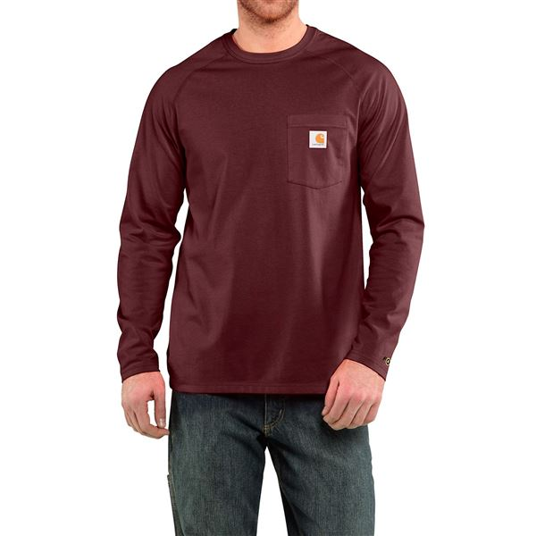 Carhartt Force® T-Shirt - Long Sleeve (For Big and Tall Men) in Nautical Blue - Closeouts
