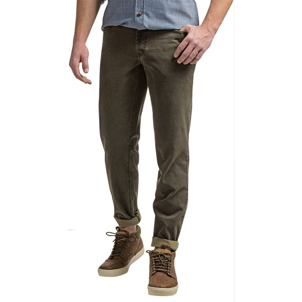 Hiltl Dude Contemporary Fit Pants (For Men) in Dark Olive - Closeouts
