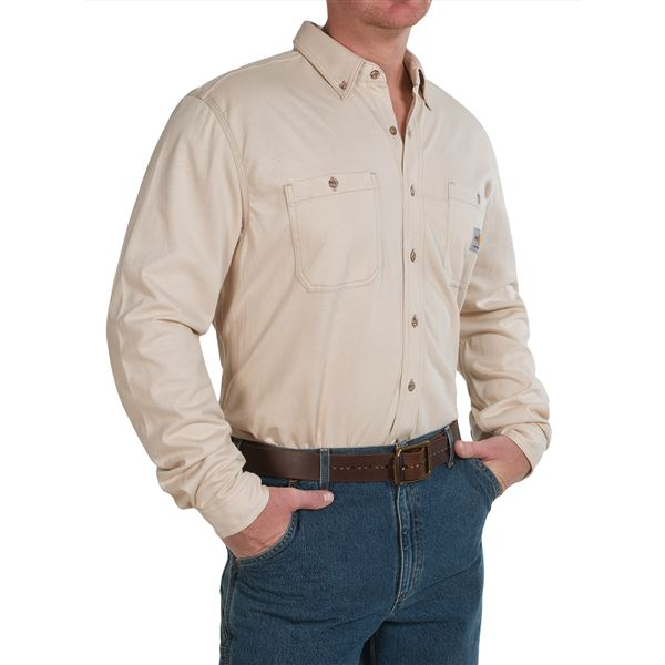 Carhartt Flame-Resistant Carhartt Force® Shirt - Long Sleeve (For Men) in  - 2nds