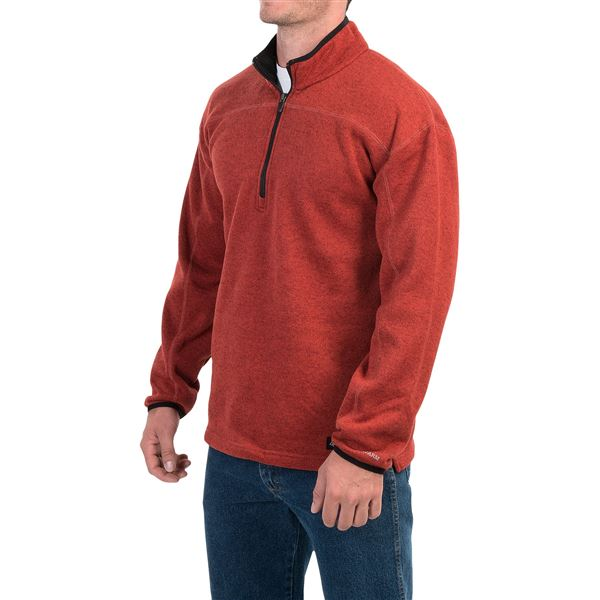 Dickies Work Tech Fleece Shirt - Zip Neck (For Men and Big Men) in Heather Oatmeal - Closeouts