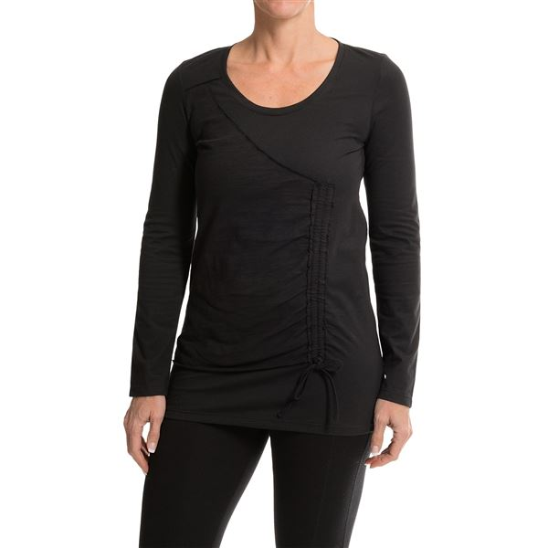 Neon Buddha Thyme Tunic Shirt - Scoop Neck, Long Sleeve (For Women) in Black - Closeouts