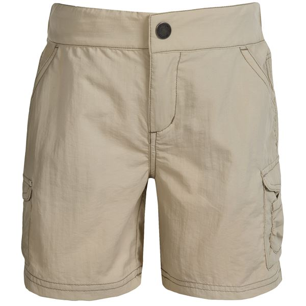 White Sierra Jr. Crystal Cove River Shorts - UPF 30 (For Little and Big Girls) in Pale Taupe - Closeouts