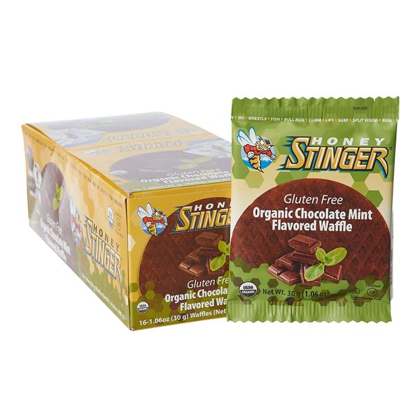 Honey Stinger Organic Gluten-Free Energy Waffles - Box of 16 in Cinnamon - Closeouts