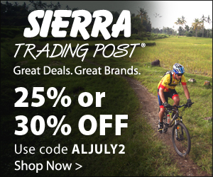 20% off $100, 25% off $150 or 30% off $200 at Sierra Trading Post. Use code: ALFEB2. Valid to 3.7.2012