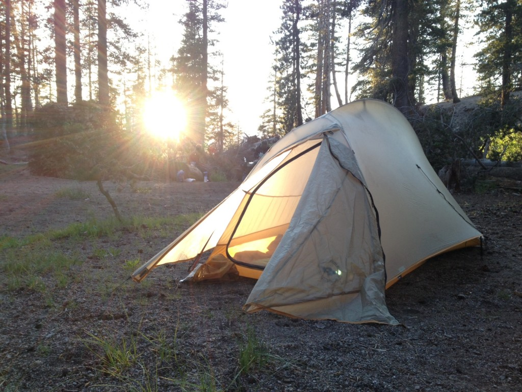 Tent on John Muir Trail
