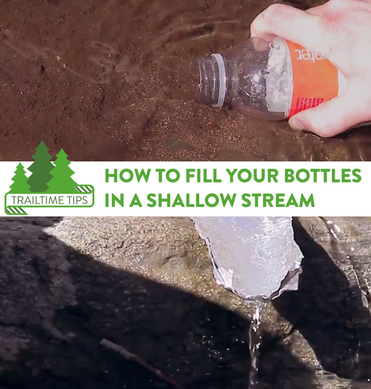 shallow stream backpacking tip