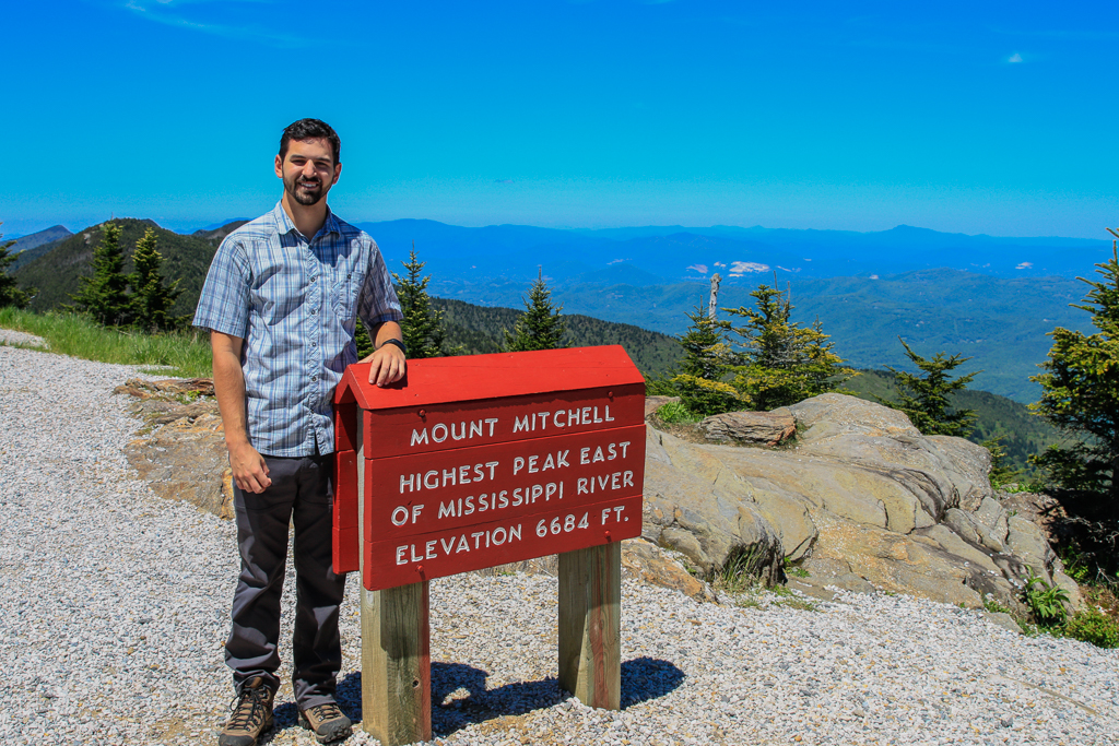 Mt Mitchell Sign