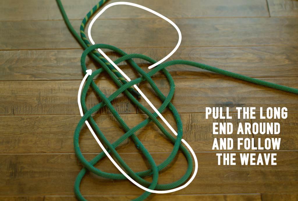 Climbing Rope Rug Step 9