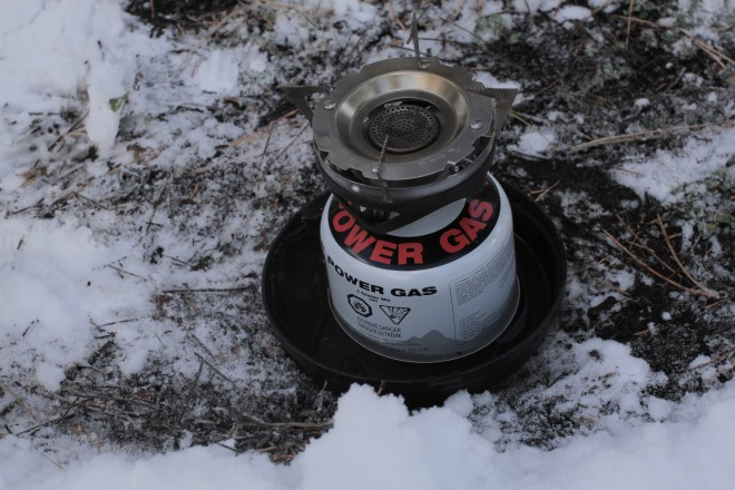 Keep fuel canister warm