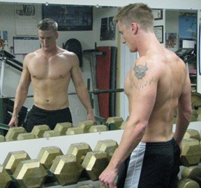 This is when I weighed 180 lbs. and was NOT a climber.
