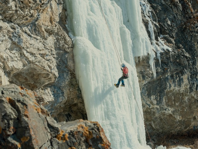 Ice Climbing Cody, Wyoming