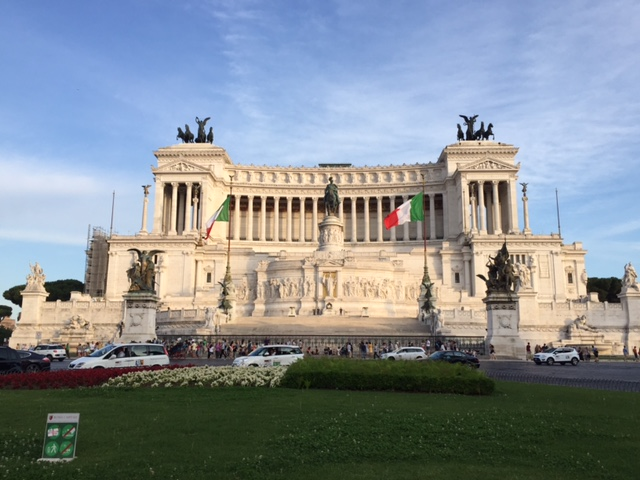 II Vittoriano, the National Monument of Victor Emmanuel II, the first king of a unified Italy, Rome.