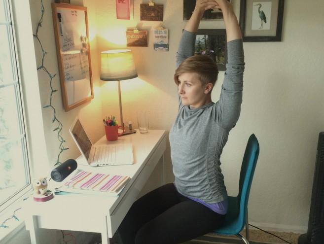 Yoga pose office