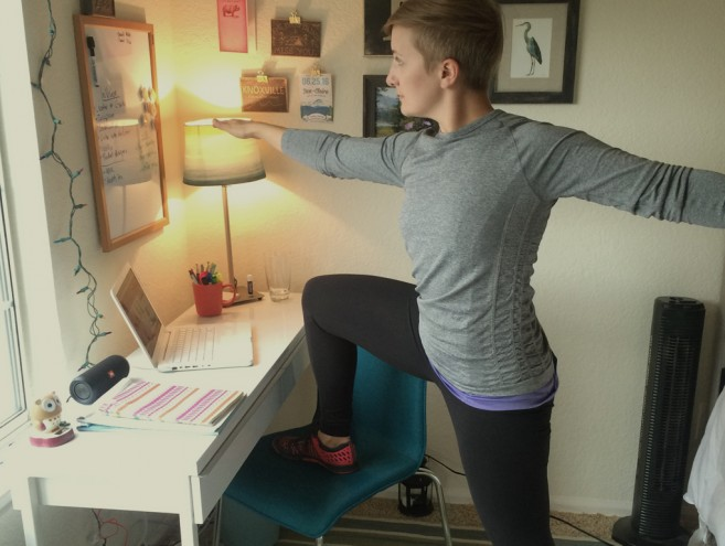Office yoga poses
