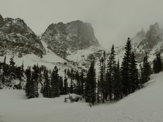 Emerald Lake Rocky Mountain National Park Snowshoe